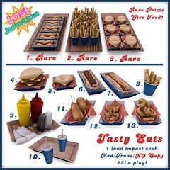 [LJ] Tasty Eats - Gacha Garden Key (Tala Laval) Tags: food dog hot garden french corn key chili dino fast rings fries condiments soda onion nuggets gacha