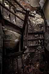 (Rodney Harvey) Tags: urban rot abandoned church stairs decay indiana staircase gary urbex