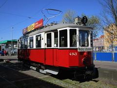 WStW Wenen tram 4143 Museum EMA Amsterdam (Arthur-A) Tags: vienna netherlands amsterdam museum oostenrijk nederland tram streetcar tramway museumtram strassenbahn wenen electrico tranvia tramvia wstw