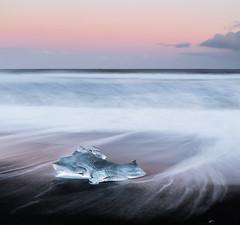 Jokulsarlon Ice Beach - Iceland (Giorgino23) Tags: longexposure sea ice beach canon iceland mare wave onde ghiaccio islanda neutraldensiti
