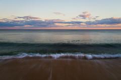 Shore break (Trace Connolly) Tags: ocean longexposure blue sunset sea seascape beach clouds canon landscape coast movement sand surf waves sigma australia timeexposure shore beaches bluehour greatoceanroad torquay seashore foreshore janjuc blueseas surfcoast environmentalphotography canon7d cloudsstormssunsetssunrises sigma1750f28exdcoshsm