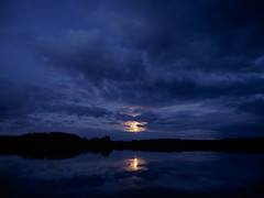 Quiet Dark :: Still Moon (trm42) Tags: moon reflection silhouette night clouds suomi finland dark spring moody quiet darkness handheld behind kuu y pilvet heijastus kevt polttarit sastamala