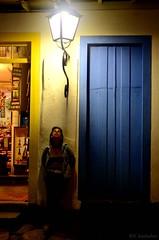 150325 0776 Paraty, Brasil (nicolaskuntscher) Tags: door southamerica azul brasil paraty night lights noche puerta nikon retrato farol sudamrica d7000