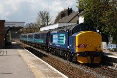 37419 + 37405 passing Wymondham on the EACH Express Charter Train (Thomas O'Neill Transport Photos) Tags: street london station train liverpool norwich ely express each charter wymondham 37405 37419 30042016