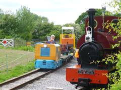 P1050741 (Hampton & Kempton Waterworks Railway.) Tags: diesel loop digger galaday 2015 darent warflat modwagon colinswagon