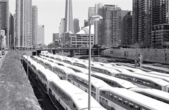 Resting GO Trains_ (Bill Smith1) Tags: nikonf3hp hc110b berggerbrf400 nikkorai50f14lens filmshooterscollective heyfsc billsmithsphotography toronto2016