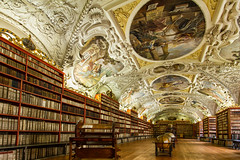 Strahov Monastery - #2 - Prague (CONTROTONO) Tags: show longexposure travel school signs building art texture beautiful stone architecture angel painting book hall construction paint gallery arch exterior view mosaic interior library room awesome perspective wideangle books palace location tourist ceiling stained bubble librarian conference column librarians programs marble drama exploration brass fresco wallpainting stucco stacks bulge oldbook readers serials supershot antiquedoor controtono