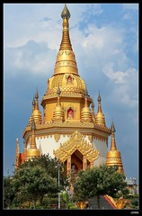 DP1U7126 (c0466art) Tags: trip travel blue light sky cloud tower water beautiful festival canon temple golden scenery bright buddha chinese spill 2016 1dx c0466art