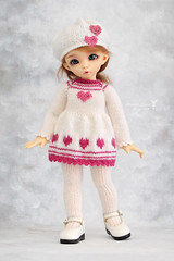 Outfit for YoSD (Maram Banu) Tags: pink outfit doll heart handmade bjd fairyland ante yosd littlefee fairystyle marambanu