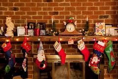 Christmas Morning 2015 (1) (tommaync) Tags: christmas morning clock stockings lights nc fireplace december northcarolina gifts presents mantle chathamcounty 2015