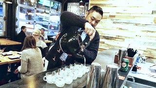 Trevor Lui (Owner) pouring Da Punch Pot