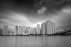 City ([~Bryan~]) Tags: city urban bw building weather architecture hongkong cityscape time housing urbanlandscape ndfilter daytimelongexposure