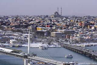 Wintertime Two Bridges of Istanbul