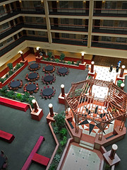 Hotel lobby (SteveMather) Tags: hotel view aerial lobby clean eight octagon spe pergola topaz iphone sided octagonal 6s anthropics smartphotoeditor