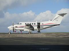 G-BVMA parked. (aitch tee) Tags: dragonfly aircraft beech turboprop walesuk cardiffairport superkingair gbvma maesawyrcaerdydd cwlegff