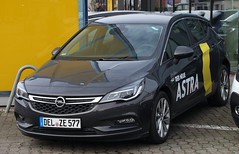 New Astra (The Rubberbandman) Tags: auto new red black car k modern sedan germany gm general outdoor small motors german vehicle tuner pure saloon import coupe astra coup compact holden opel hatchback vauxhall fahrzeug ricer gtc tuned irmscher riced delmenhorst
