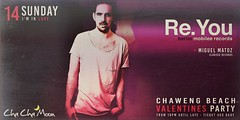 02-14-16 Cha Cha Moon Beach Club Koh Samui Presents Re. You (clubbingthailand) Tags: club thailand dj kohsamui valentines chachamoon httpclubbingthailandcom