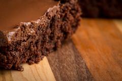 Chocolate Fudge Brownies on wood cutting board (CookiesForDevo) Tags: wood macro closeup dessert squares chocolate fudge fresh sugar delicious homemade bakery snack icing treat brownies baked