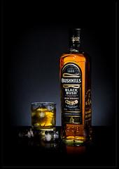 Still Life Exersice - Bushmills Blak Bush Whisky (1.11 Giovanni Contarelli) Tags: life ireland stilllife black ice glass canon eos bottle still bush whisky bicchiere irlanda bushmills ghiaccio bottiglia blackbush canon24105l ef24105f4l eos7d eos7dmk1