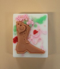 Boot with Flowers $3.00 (Clelian Heights) Tags: flowers boot soaps unscented decorativesoaps cleliansoaps