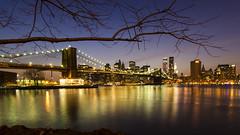 Love all, trust a few, do wrong to none (ferpectshotz) Tags: newyorkcity sunset newyork brooklyn lights manhattan brooklynbridge eastriver