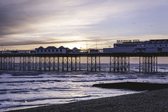 Brighton Pier (craigmdennis) Tags: sunset beach water landscape pier seaside