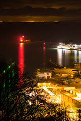 Dover to Calais (Inner Vision Productions) Tags: france castle port matt boats lights kent dock nikon focus long exposure harbour vibrant vivid illuminated sharp inner 300mm vision blythe nikkor shipping dover calais d5200