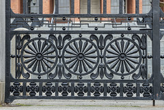 Detail of Wrought-Iron Fence at Massachusetts State House, Boston (judyhorton) Tags: boston fence craftsmanship wroughtironfence massachusettsstatehouse