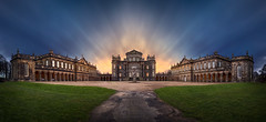 Seaton Delaval Hall (kris greenwell) Tags: uk blue sunset england sky motion building green heritage gardens landscape nikon dramatic grand northumberland manor nationaltrust northengland northeastengland seatondelaval d7100 nikond7100 krisgreenwell krisgreenwellphotography seavondelavalhall