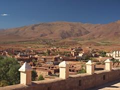 View from the roof, El Glaoui Kasbah (nisudapi) Tags: mountains landscape view morocco vista atlas kasbah 2015 telouet elglaoui