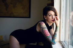 Kayla (-cynthiatran) Tags: oklahoma portraits nude bedroom lace lingerie tattoos boudoir okc nudity alternative lightroom cdtimagery