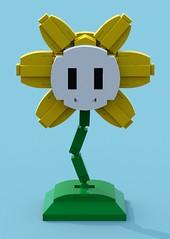 Flowey 1 (pb0012) Tags: game flower video lego character indie videogame ldd indiegame flowey undertale floweyundertale