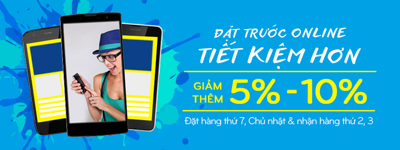 Ưu đãi đến 10% khi mua Điện thoại Online từ 27/02 - 28/02/2016