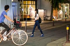 Danger Ahead (Light J) Tags: street portrait woman color cute girl beauty japan canon pretty candid fukuoka 135mm 6d fukuokaken fukuokashi