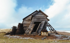 Sooner or Later... (John Westrock) Tags: school winter abandoned farm structure pacificnorthwest washingtonstate whitman fallingover palouse canoneos5dmarkiii canonef1635mmf4lis skeenschool