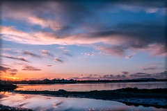 Elmhurst Creek-Arrowhead Marsh Sunset (luqmac) Tags: california usa oakland eastoakland oaklandcalifornia eastbayregionalparkdistrict cityofoakland sanleandrobay martinlutherkingjrregionalshoreline edgewaterdrive elmhurstcreek arrowheadmarshobservationtower nikond7100 garretsonpointtrail