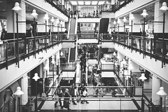 Eaton Center (Playing_with_light) Tags: bw shopping nikon downtown mtl centre center eaton d800