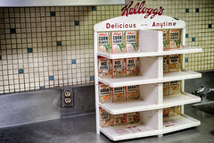 Delicious Anytime (draydogg) Tags: sanfrancisco display cereal signage cafeteria actransit kelloggs transbayterminal deliciousanytime