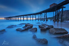 Catherine Hill Bay (Jingshu Zhu) Tags: bridge seascape sunrise landscape catherinehillbay
