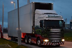 Stobart H2075 PE64 EUX Ava Maria at Widnes 5/2/16 (CraigPatrick24) Tags: road truck fridge cab transport tesco lorry delivery vehicle trailer doubledecker scania logistics widnes stobart avamaria eddiestobart stobartgroup h2075 scaniar450 tescodoubledecker doubledeckerfridge pe64eux