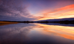 Lonely Thoughts (J McSporran) Tags: sunset clouds landscape scotland peaceful calm lakeofmenteith trossachs