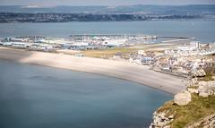 81/366 Chesil Beach & Sailing Academy - 366 Project 2 - 2016 (dorsetpeach) Tags: shadow sea england clouds portland landscape view dorset 365 chesilbeach 2016 366 aphotoadayforayear 366project second365project nationalsailingacademy