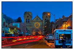Christmas in Santa Fe, 2015 (msankar4) Tags: christmas plaza newmexico santafe church festive lights cathedral basilica nm stfrancis stfrancisofassisi farolitos