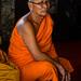 Monk expressing concern