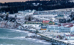 Cold Weather is over ? (vamp8888) Tags: ocean winter sea snow seascape canada canon eos village quebec hiver shore 7d neige gaspesie perc 135mmf20 ef135mmf2lusm canoneos7d