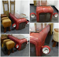 Coffee Table From an Upcycled Massey Ferguson Tractor (irecyclart) Tags: tractor industrial furniture coffeetable masseyferguson upcycled