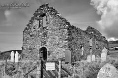 Old Olnafirth Kirk, Shetland (Dickie Imaging) Tags: uk blackandwhite church graveyard scotland unitedkingdom ruin shetland kirk dickie gbr voe olnafirth colindickie dickieimaging