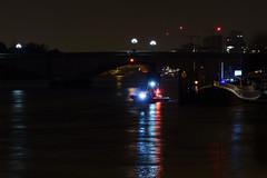 Boats and lights under Putney Bridge (andyc246) Tags: london reflections nighttime riverthames putneybridge
