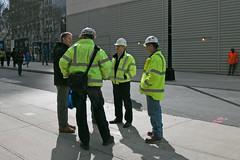 Workmen New York (Roelie Wilms) Tags: usa newyork america us manhattan wtc amerika wtctransithub