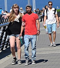 Sneakin' into the Easter weekend (ManontheStreet2day) Tags: boy couple crotch twink sneakers jeans bluejeans